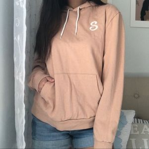 ASOS Peach Hoodie w/ Embroidery